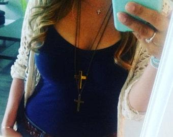 Ladies Cross necklace - Bronze Cross Necklace - Necklace- Ladies Necklaces