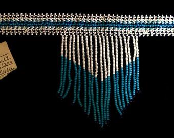 Vintage 1980's Handmade Tribal African Beaded Cascade Choker (TBxP1)