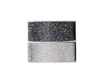 Black & Silver Glitter Washi Tape Set - Le Page's Glitter Tape - Planner Washi Tape - Scrapbooking Embellishment - 437772