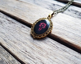 World of Warcraft (WoW) - Horde Faction Crest Cameo - Nerdy Valentine or Gamer Girl gift - Video Games - For The Horde - Horde Jewelry