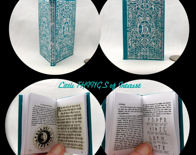 ADVANCED RUNE TRANSLATION Illustrated Book 1:3 Scale Readable Book Harry Potter Magic Textbook American Girl Doll 18 inch Ag Doll 1/3 Scale