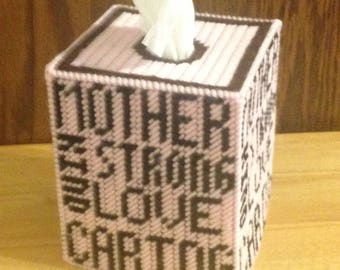 Mother Plastic Canvas Tissue Box Cover, Mothers Day Gift, Gifts for Moms, Needlepoint Canvas, Mom from Daughter, Mother in Law Gift