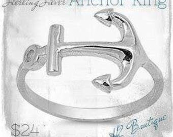 SALE!! Sterling Silver Anchor Ring