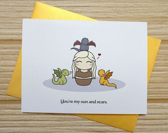 You're My Sun and Stars Love Card
