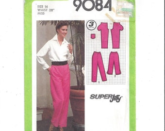 Simplicity 9084 Pattern for Misses' Super Jiffy Pants, Pedal Pushers, Capri Pants, From 1979, Vintage Pattern, Home Sewing Pattern, Easy Sew