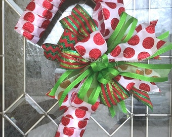 Candy Cane Wreath - Candy Cane Decoration - Christmas Wreath - Christmas Decor - Holiday Wreath - Holiday Decoration - Candy Cane Decor