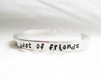 SISTER BRACELET - Hand Stamped Cuff Bracelet, Sister Jewelry, Sister Friends