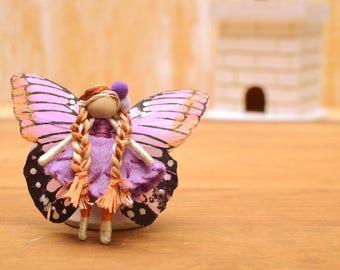 Flower Fairy Doll - flower fairies, miniature fairy doll, miniature fairies, waldorf fairy doll, waldorf fairies, small fairy doll
