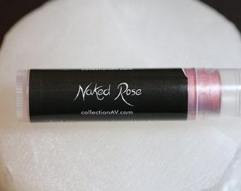 Naked Rose / Organic Tinted Lip Balm / Shimmer, Sheer, Pink