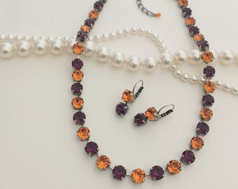 Clemson Tigers inspired Necklace Set.