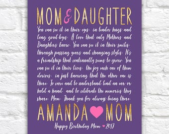 Letter to Mom, Mom and Daughter Gift Idea, Mom Birthday Gift, Mom Poem, Poetry Mother Daughter, Heartfelt Letter, Quote, Mama Love | WF585