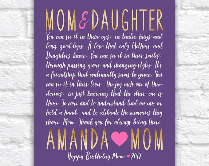 Featured listing image: Letter to Mom, Mom and Daughter Gift Idea, Mom Birthday Gift, Mom Poem, Poetry Mother Daughter, Heartfelt Letter, Quote, Mama Love | WF585