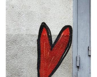 Urban Graffiti Art Wall Street Art Picture Heart Graffity Drawing Fine Art Photography Modern Art Minimalist Graffiti Travel wall art Lovers