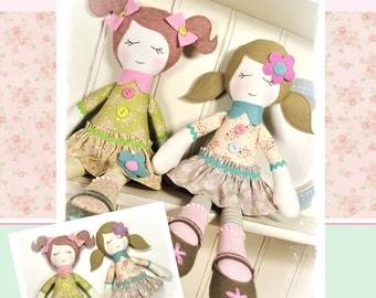 PDF - Bella & Trudie Rag Doll Pattern