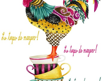 Rooster Mardi. Candy Colored Edition