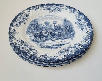 Johnson Brothers Coaching Scenes FOUR ironstone dinner plates