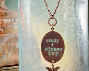 Today I Choose Joy Necklace