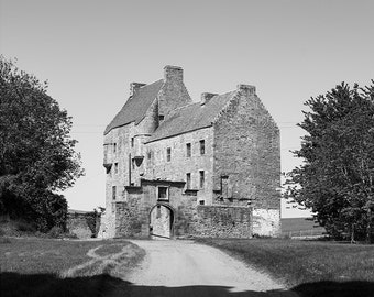 Midhope Castle // Edinburgh // Lallybroch // Outlander // Abercorn //Fine Art Print // Black and White Photograph // Wall Art // Decor
