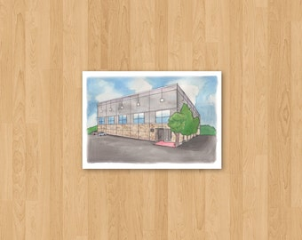 Scranton Business Park from The Office, Illustrated Portrait, Pop Culture TV Art, Choose a size