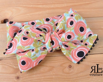 Poppy Headwrap - Bow Headwrap - Head Wrap - Baby Headwrap - Hair Bow