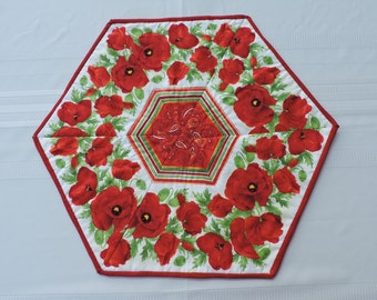 Red Poppies Table Runner