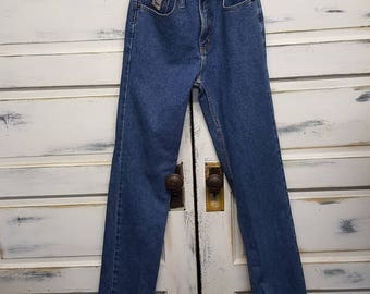 Vintage high waisted mom jeans 80s 90s boyfriend jeans, Cruel Girl, Slim Fit, Size 7, X-Long
