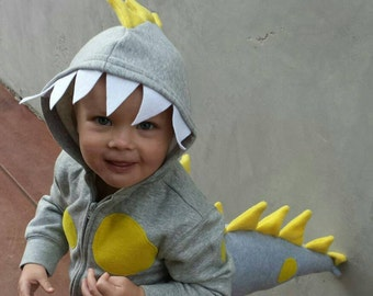 Dino Hoodie and Tail. Made to Order