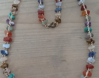 Vintage gemstone necklace
