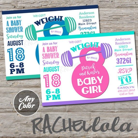 Crossfit Themed Weightlifting Baby Shower Printable