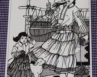 Vintage Navajo Blouse and Skirt Folkwear Pattern 120 Women Girls Uncut