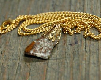 Brown Jasper Necklace, Jasper Pendant, Healing Crystals and Stones, Earthy Jewelry, Boho Gemstone Necklace, Bohemian Gemstone Jewelry