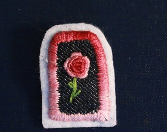 Embroidered Flower Pin