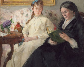 "Berthe Morisot : ""The Mother and Sister of the Artist"" (1869/1870) - Giclee Fine Art Print"