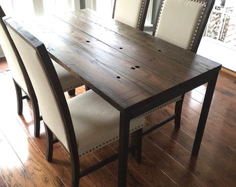 """The """"South Street"""" Dining Table - Reclaimed Wood + Steel - Multiple Sizes"""