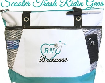 Free Shipping - Personalized Nurse Stethoscope Tote Bag - RN LPN CNA - More Colors - monogrammed