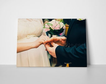 Custom Photo Canvas Print, Gallery wrapped canvas print, Personalized canvas print, Maid of honor gift, Christmas gift, Wedding gift.