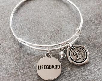 SALE, Lifeguard, Swimming, LIfeguard Bracelet, Lifeguard Jewelry, Silver bracelet, Charm Bracelet, Graduation, Keepsake, Gifts for, keepsake