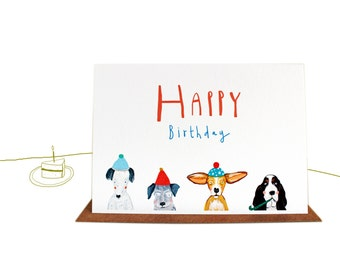 Happy Birthday Party Dogs Card
