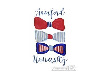 Notecard or Print ~ Samford Bowties