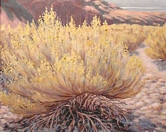 Original art - 'Nevada Wash' - original landscape painting - plein air - oil - desert painting - framed - Southwest art - western - wall art