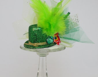 St. Patrick's Day Mini Hat Hair Clip Hairband Green Irish Leprechaun Hat St. Patrick's Day Party Hair Accessory #6 FREE USA SHIPPING!