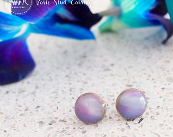 Handmade shrink plastic jewelry - Basic Stud Earrings {Ready to Dispatch}
