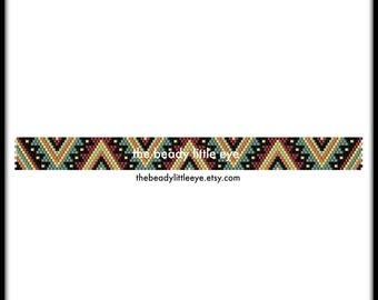 Peyote Patterns - Beading Patterns - Geometric Peyote Pattern - Bracelet Tutorial - Beading Tutorial - Peyote Beading Pattern - HAWK