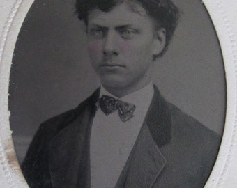 The Young Professional William C Brown - 1860's Tintype Photograph - Free Shipping