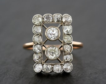 Art Deco Engagement Ring - Antique Art Deco Diamond Engagement Ring - Art Deco Diamond Ring