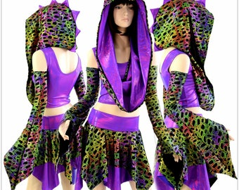 Weekender III Pixie Edition in Poisonous & Grape Holo w/Spikes 154498