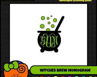 Witches Brew Witch SVG Halloween SVG SVG Monogram Commercial Free Cricut Files Silhouette Files Digital Cut Files svg cut files