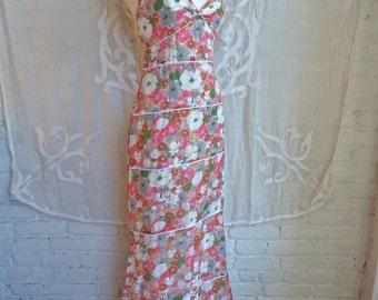 Vera Wang Silk Floral Maxi Dress