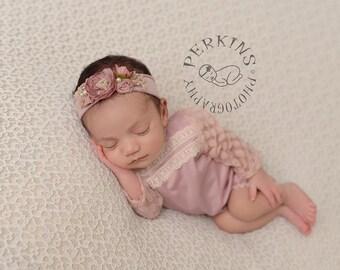 New Born Romper Prop, Pink Props, Lace Romper Prop, Newborn Girl Romper, Baby Romper, Newborn Photo Prop, Newborn Prop, Photography Prop