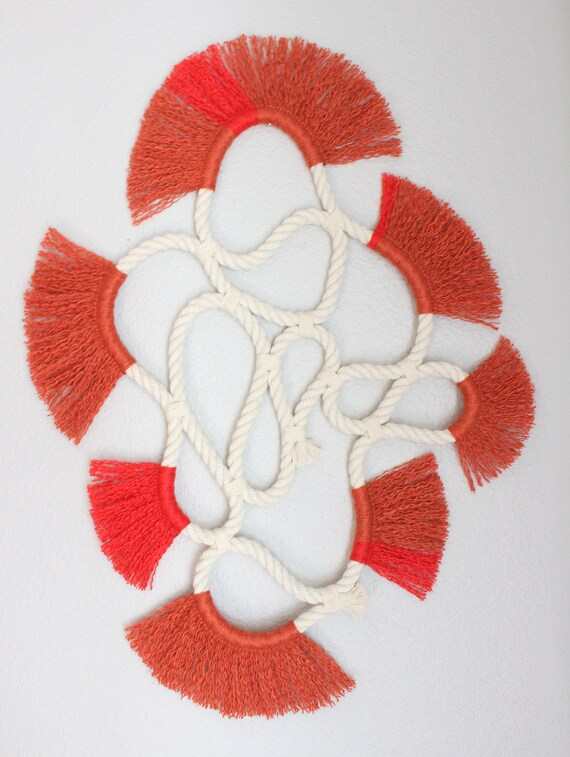 """Wall Hanging """"LOOP no.16""""  One of a kind Handcrafted Macrame/Rope art"""